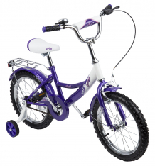 Купить двухколесный велосипед leader kids g16bd207, цвет: белый/фиолетовый g16bd207