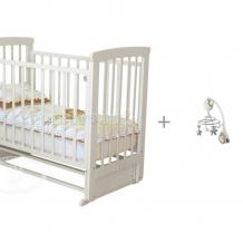 Купить детская кроватка можга (красная звезда) марина с-700 маятник поперечный с мобилем chicco next2dreams