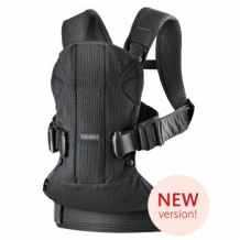 Купить рюкзак-переноска babybjorn one air mesh black, черный babybjorn 996965899