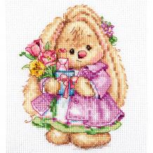 """Купить набор для вышивания алиса зайка ми """"весна"""" 10х13 см ( id 16690845 )"""