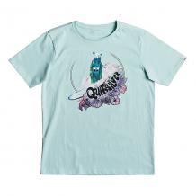 Купить футболка детская quiksilver sslogbearyouth eggshell blue голубой ( id 1194893 )