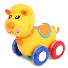 Купить каталка игруша лев, цвет: оранжевый, 14.5 см ( id 10178817 )