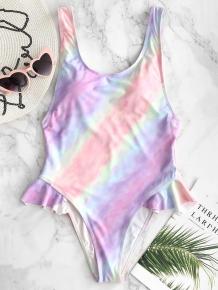 Купить tie dye high cut ruffle swimsuit 269111601
