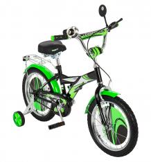 Купить двухколесный велосипед leader kids g16bd403, цвет: зеленый/черный g16bd403