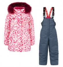 Купить комплект куртка/полукомбинезон stella хохлома, цвет: розовый ( id 6612787 )