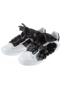 Купить сникерсы jeffrey campbell pabst-flwr white black
