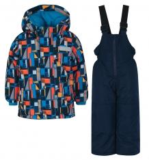 Купить комплект куртка/полукомбинезон salve by gusti, цвет: синий/оранжевый ( id 9820338 )
