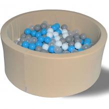 """Купить сухой бассейн hotenok """"брызги на песке"""" 40 см, 200 шариков ( id 9633848 )"""