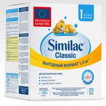 Купить similac молочная смесь классик 1 0-6 мес. 1200 г 20033376