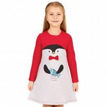 Купить платье апрель пингвин, цвет: серый/красный ( id 12520594 )