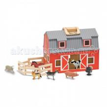 Купить деревянная игрушка melissa & doug создай свой мир загон и амбар 3700