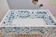 Купить бортик в кроватку mama relax нежные сны (12 предметов)