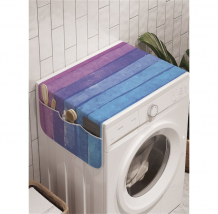 Купить ambesonne органайзер для хранения на стиральную машину красочные оттенки радуги 120x45 см cwm_27151