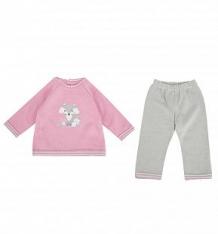 Комплект туника/брюки Leo Forest friend, цвет: розовый/серый ( ID 7545619 )