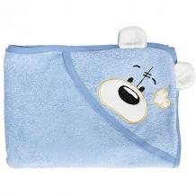Купить полотенце с капюшоном мишки fun dry, twinklbaby, голубой с белыми ушками 6772415