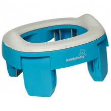 Купить дорожный горшок roxy-kids handypotty, голубой ( id 8393489 )