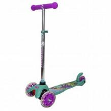 Купить самокат 1toy disney принцессы, цвет: бирюзовый/фиолетовый ( id 10455290 )