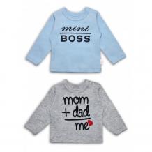 Купить веселый малыш фуфайка мини босс, мама + папа = я 2 шт. 67322/кнад
