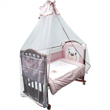Купить комплект в кроватку 6 предметов сонный гномик, умка, розовый ( id 5016519 )