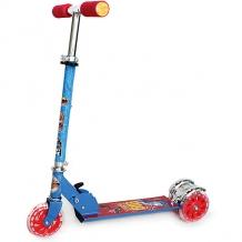 Купить трехколесный самокат next hot wheels, синий ( id 8264283 )