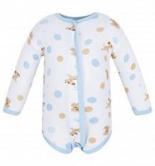Купить боди чудесные одежки собачки и горох, цвет: белый/голубой ( id 5780869 )