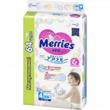 Подгузники для детей размер L 9-14 кг MERRIES, 64 шт Merries 996877765