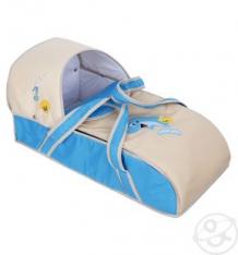 Купить люлька-переноска для ребенка slaro дельфинчик, цвет: бежевый/голубой ( id 4526137 )