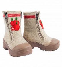 Купить валенки филипок яблочки, цвет: бежевый ( id 7692547 )