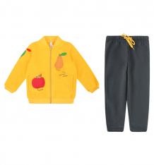 Купить комплект толстовка/брюки play today золотой сад, цвет: желтый 388025