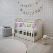 Кроватка-маятник Papaloni Джованни, 120х60 см, гоголь-моголь Papaloni 996922748