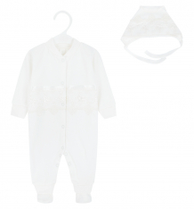 Купить комплект комбинезон/чепчик папитто, цвет: бежевый ( id 6072193 )