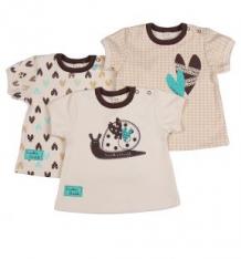 Комплект футболка 3 шт Lucky Child Улитки, цвет: коричневый ( ID 1116146 )