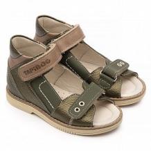 Купить сандалии tapiboo, цвет: хаки/бежевый ( id 12347542 )