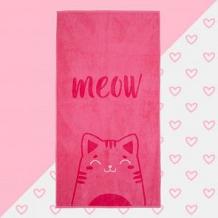 """Купить полотенце махровое \""""meow\"""" 70х130 см ( id 12711394 )"""