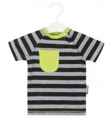 Купить футболка bambinizon, цвет: серый/зеленый ф-пзя