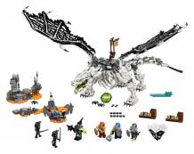 Купить конструктор lego ninjago дракон чародея-скелета 71721