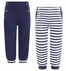Комплект брюки 2 шт Lucky Child Лазурный берег, цвет: синий/белый ( ID 5777257 )