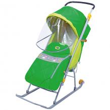 Купить санки-коляска ника тимка люкс, зеленый ( id 4419966 )