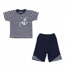 Купить комплект футболка/шорты aga, цвет: синий/белый ( id 8230243 )