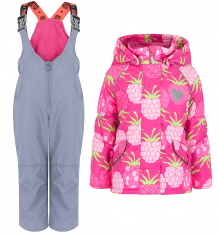 Купить комплект куртка/полукомбинезон stella, цвет: розовый/серый ( id 8744107 )