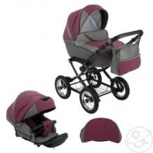 Купить коляска 2 в 1 slaro anna lux, цвет: темно-серый/бордовый ( id 10647989 )