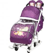 """Купить санки-коляска ника детям """"baby 2"""" медвежонок винни и его друзья баклажановый ( id 10406871 )"""