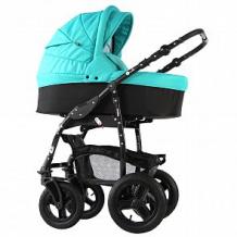 Купить коляска-люлька для новорожденного sevillababy mirra, цвет: бирюзовый/черный ( id 10816316 )