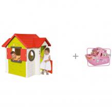Купить smoby игровой детский домик со звонком 810402 и игровой набор кукла еви на круизном корабле 12 см simba