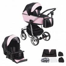 Купить коляска 2 в 1 adamex sierra special edition, цвет: кожа розовая/черный ( id 11542102 )