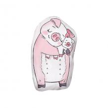 """Купить подушка ligra """"свинка"""" ручной работы, 20х35 см, серая 10627205"""