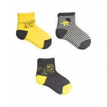 Купить носки детские, 3 пары, желтый, черный mothercare 997242487