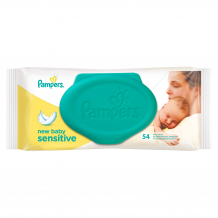 Купить детские салфетки pampers newbabysensitive, 54 шт. pampers 997042506