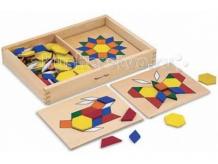 Купить деревянная игрушка melissa & doug первые навыки трафарет с блоками на досках 10029 29