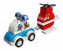 Купить конструктор lego duplo пожарный вертолет и полицейский автомобиль 10957